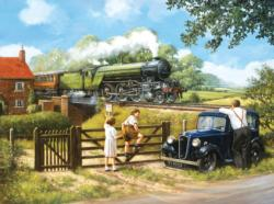Passing By Trains Jigsaw Puzzle