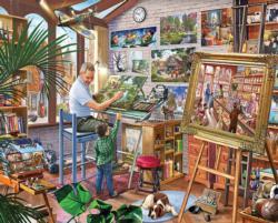 Artist's Studio Nostalgic / Retro Jigsaw Puzzle