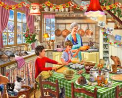 Christmas at Grandma's Domestic Scene Jigsaw Puzzle