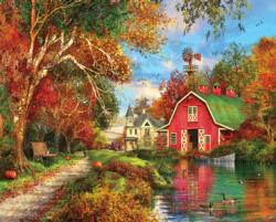 Autumn Barn Farm Jigsaw Puzzle