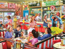 American Diner Nostalgic / Retro Jigsaw Puzzle