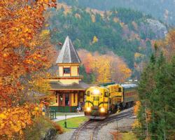Scenic Railroad Landscape Jigsaw Puzzle