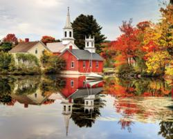 Autumn Reflections Churches Jigsaw Puzzle