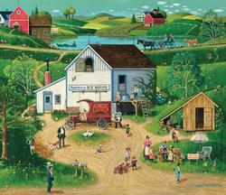 Free Enterprise Folk Art Jigsaw Puzzle