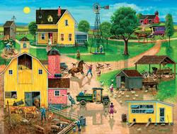 After the Chores Americana Jigsaw Puzzle