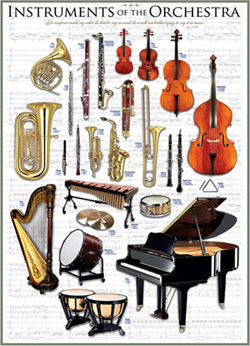 Instruments of the Orchestra Pattern / Assortment Jigsaw Puzzle
