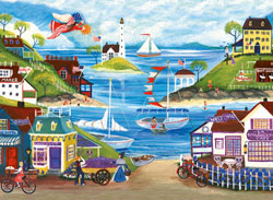 Lovely Seaside Seascape / Coastal Living Jigsaw Puzzle