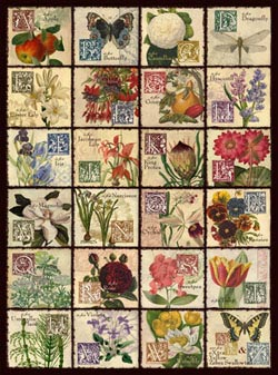 Vintage Flora Pattern / Assortment Jigsaw Puzzle