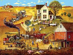 Harvest Time Folk Art Jigsaw Puzzle