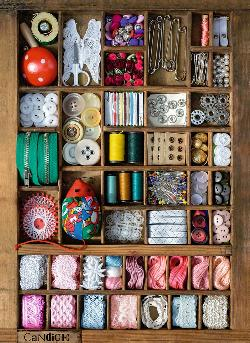 Sewing Box Collage Jigsaw Puzzle