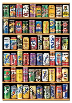 Cans Pattern / Assortment Jigsaw Puzzle