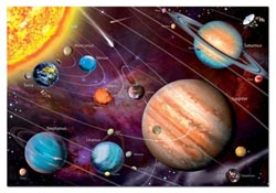Solar System, Neon - Scratch and Dent Science Jigsaw Puzzle