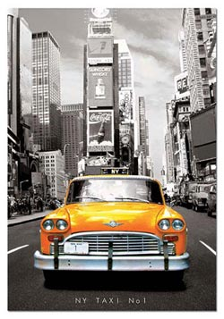 Taxi Number One, New York New York Jigsaw Puzzle