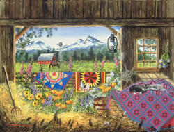Hole in the Barn Door Landscape Jigsaw Puzzle