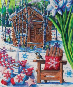 Mountain Cabin Fever Cottage / Cabin Jigsaw Puzzle