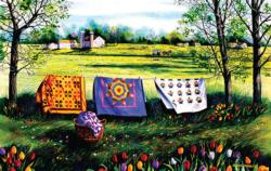 Amish spring Quilting & Crafts Jigsaw Puzzle