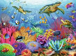 Tropical Waters Reptiles and Amphibians Jigsaw Puzzle