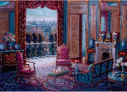 The Sitting Room Domestic Scene Large Piece