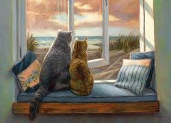 Window Buddies Cats Large Piece