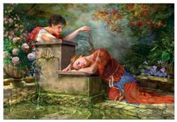 While She Was Sleeping - Scratch and Dent Renaissance Jigsaw Puzzle