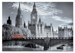 London Bus Skyline / Cityscape Jigsaw Puzzle