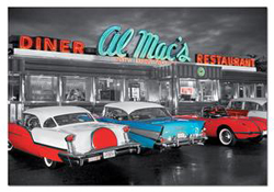Dinner at Al Mac's Nostalgic / Retro Jigsaw Puzzle