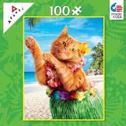 Aloha Cat (Mini) Hawaii Children's Puzzles