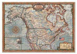 North American Map Maps Jigsaw Puzzle