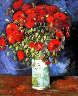 Vase with Red Poppies Impressionism Wooden Jigsaw Puzzle