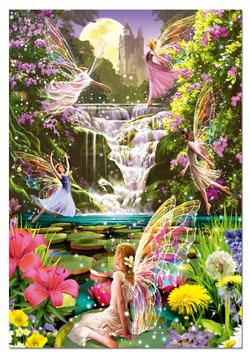 Waterfall Fairies Waterfalls Jigsaw Puzzle