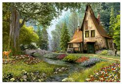 Toadstool Cottage, 6000 pcs Countryside Jigsaw Puzzle