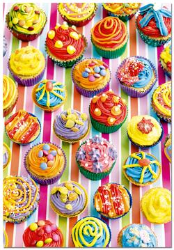 Colorful Cupcakes Valentine's Day Jigsaw Puzzle