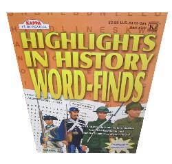 Highlights In History Word Finds Vol 25 History Activity Books and Stickers