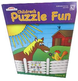 Children's Puzzle Fun Vol 8 Farm Animals Activity Books and Stickers