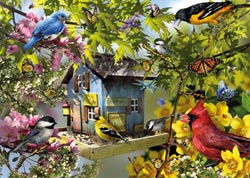 Time for Lunch Birds Jigsaw Puzzle