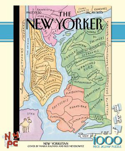New Yorkistan (The New Yorker) Nostalgic / Retro Jigsaw Puzzle