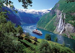 Norwegian Fjord Waterfalls Jigsaw Puzzle