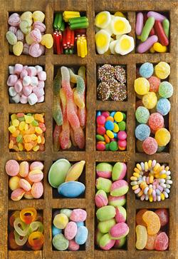Sweet Collage - Scratch and Dent Food and Drink Jigsaw Puzzle