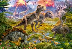 Dinosaur Gathering Collage Jigsaw Puzzle