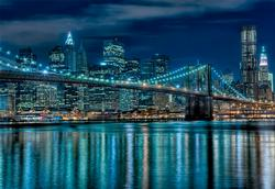 Manhattan at Night Lakes / Rivers / Streams Jigsaw Puzzle