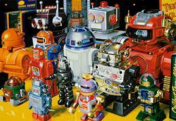 Robots Nostalgic / Retro Jigsaw Puzzle