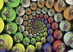 Colorful Spiral (Krypt) Abstract Jigsaw Puzzle