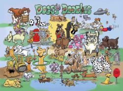 Doggy Doodles Cartoon Jigsaw Puzzle