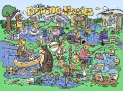 Fishing Funnies Cartoon Jigsaw Puzzle