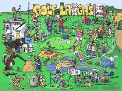 Golf Laughs Cartoon Jigsaw Puzzle