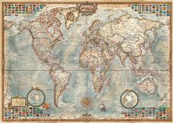 Political Map Of The World - Scratch and Dent Maps / Geography Jigsaw Puzzle