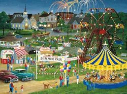 Country Fair Main Street / Small Town Jigsaw Puzzle