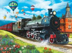 Steam Train at the Station (Puzzle Collector) Balloons Jigsaw Puzzle