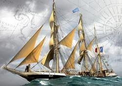 Under Full Sail Boats Jigsaw Puzzle