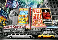 New York Theatre Signs Cities Jigsaw Puzzle